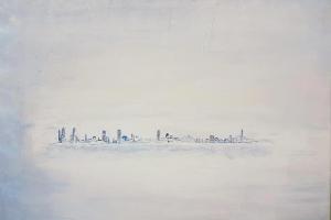 NY in the mist